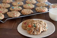 Chewy m Oatmeal Cookies