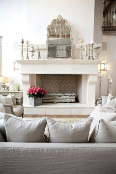 white simple living room interior design