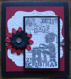 Christmas Card made by Meg from a 'DIY' kit found at www.wholelottahappy.com.au