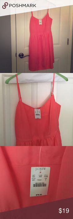 J Crew Dress J Crew Dress with tags still on. Never worn. Coral color. J. Crew Dresses Mini