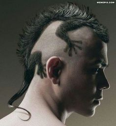 Male hairstyle - chameleon style I wonder if work would let me lol