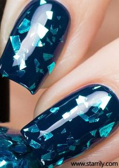 Try some of these designs and give your nails a quick makeover, gallery of unique nail art designs for any season. The best images and creative ideas for your nails. Elegant Nail Designs, Elegant Nails, Nail Art Designs, Nails Design, Gorgeous Nails, Pretty Nails, Hair And Nails, My Nails, Clear Acrylic Nails