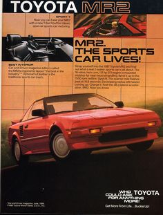 Classic Toyota MR2 ad! (1987)