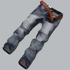 26236f504e35 Men s New Fashion Casual Straight Bodycon Long Jeans – USD   48.99