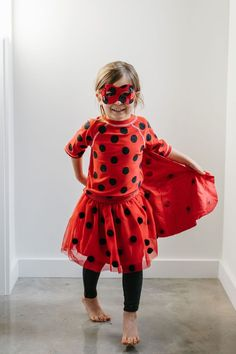 This @miraculous ladybug costume DIY and tutorial is perfect for parties, Halloween, or just any excuse for imaginative play ideas! #sponsored