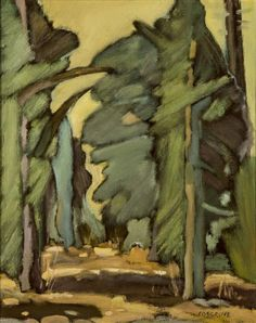 Artwork by Stanley Cosgrove, forest light, Made of Oil on board Forest Light, Canadian Artists, Artwork, Painting, Oil, Board, Work Of Art, Painting Art, Paintings