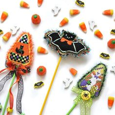 Getting ready for the spooky season with Burnett & Bradley Halloween needlepoint canvases!