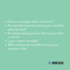 Once you start a B2B campaign on social media, you'll need to clearly define your marketing goals. These questions will help you with that. #socialmediamanagement