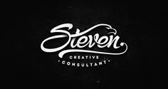 Steven, creative consultant - very cool wordmark! Pixel Design, Web Design, Logo Design Trends, Best Logo Design, Logo Design Inspiration, Typography Inspiration, Print Design, Graphic Design, Typography Served