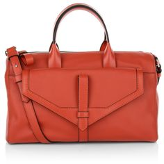 The upcoming trend colour: Cinnabar! This wonderful red will be our favorite colour to wear in fall and the finest handbag to carry with you from 9 to 5. Lancel Jo Bowling Bag Cinnabar <3 Fashionette.de