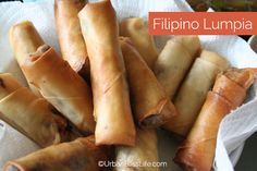 Filipino Lumpia are always a crowd favorite at any small or large gathering! These Filipino egg rolls are crispy, flavorful, and SO delicious! Filipino Dishes, Filipino Recipes, Asian Recipes, Filipino Food, Lumpia Recipe Filipino, Filipino Culture, Filipino Egg Rolls, Comida Filipina, Philippines
