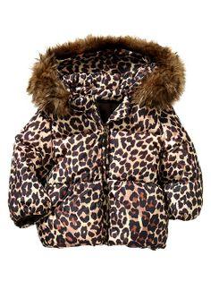Warmest leopard puffer jacket