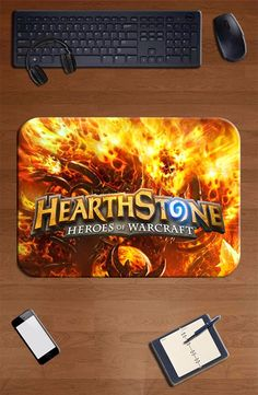 Hearthstone mouse pad fire pad to mouse notbook computer mousepad Adorable gaming padmouse gamer to laptop keyboard mouse mats