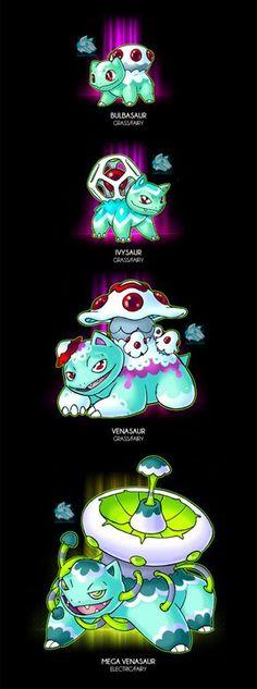 Kroelian Bulbasaur by Darksilvania on DeviantArt Creepy Pokemon, Pokemon Fake, Mega Pokemon, Pokemon Pokedex, Pokemon Comics, Pokemon Memes, Pokemon Stuff, Pokemon Fusion Art, Pokemon Fan Art
