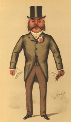VANITY FAIR SPY CARTOON. Col Francis Duncan 'Finsbury'. Holborn MP. By Ape. 1887