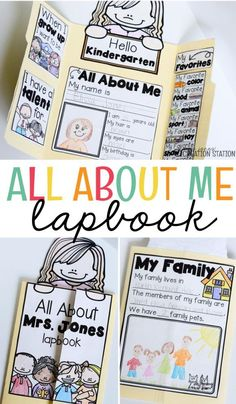 This All About Me Lapbook is he perfect back to school activity for any preschool, pre-k, or kindergarten classroom. Back To School Activities, Preschool Activities, All About Me Activities For Preschoolers, All About Me Preschool Theme, My Themes, Student Gifts, Kindergarten Classroom, School Projects, Bulletin Board