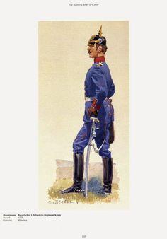 German; 1st Bavarian Konig's Infantry Regiment, Hauptmann. Raiswed 1778. Home Depot Munchen