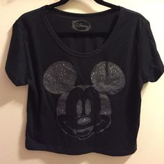 • mickey mouse tee • New without tags! Black with silver glitter Mickey Mouse tee. Perfect tee to celebrate Disneyland's 60th Diamond Celebration Disney Tops Tees - Short Sleeve