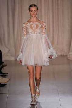 Jacobean & Cavalier - Virago sleeves New York Fashion Week Spring 2013 Runway Looks - Best Spring 2013 Runway Fashion - Harper's BAZAAR