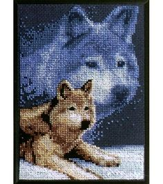 Janlynn Counted Cross Stitch Kit Forever Wild Wolf                                                                                                                                                                                 More