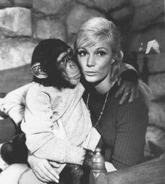 Yvette Mimieux in Monkeys, Go Home! Yvette Mimieux, Che Guevara, People, Monkeys, Couple Photos, Pets, Couples, Couple Shots, Rompers