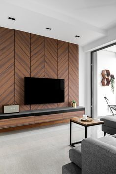 Check out this Modern-style Condo Living Room and other similar styles on Qanvast. Check out this Modern-style Condo Living Room and other similar styles on Qanvast. Bedroom Tv Unit Design, Tv Unit Interior Design, Interior Ceiling Design, Living Room Partition Design, House Ceiling Design, Living Room Tv Unit Designs, Ceiling Design Living Room, Interior Design Singapore, Bedroom Furniture Design