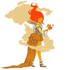Flame Princess by Mica #AdventureTime #Steampunk