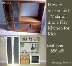 Great idea for old entertainment center!