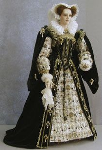 Mary Queen of Scots, adult 1542-1587 by Lady Finavon. Following the death of Francis II she returned to Scotland and married Henry, Lord Darnley in 1564 and had one child (James VI of Scotland and then James I of England).  Following her marriage to the Earl of Bothwell and a battle with the Scottish Lords she fled to England and was imprisoned by Elizabeth I.  After 19 years she was executed for treason