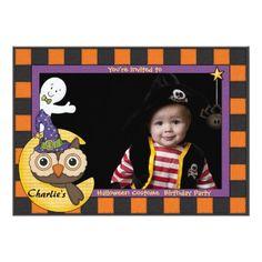 Halloween Friends - Photo Invitation