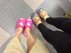 our new slippers !