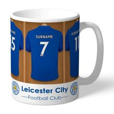 One of our best-selling Leicester City FC gifts of all time, this personalised dressing room mug is the ultimate must-have for any Leicester City FC fan. Fully licensed and approved by Leicester City FC themselves, you can be assured of quality an. Leicester City Football, Leicester City Fc, Gifts For Husband, Gifts For Him, Dressing Room Design, Gifts For Sports Fans, Personalized Mugs, Newborn Gifts, Valentine Gifts