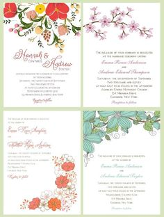 Happy First Day of Spring! In anticipation of all the beautiful flowers that will bloom this season, we're highlighting some of our favorite floral wedding invitations.