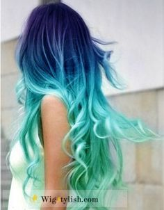 hair color hair colors hairstyles blue ombre love!!