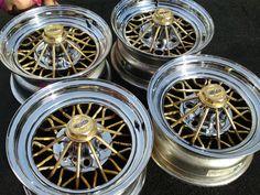 Cragar Rims (Pre-owned 30 Spoke Gold & Chrome Star Wire Wheels, Swangers, Swangaz)