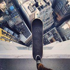 New York et skate et vide