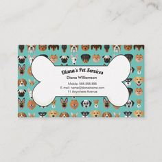 Shop Pet Sitting, Grooming and Services Business Card created by PaperBoi. Personalize it with photos & text or purchase as is! Pet Sitting Jobs, Pet Sitting Business, Dog Grooming Business, Pet Grooming, Grooming Shop, Poodle Grooming, Business Card Size, Business Cards, Business Branding