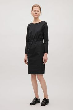 Dress with waist tie - Black - Dresses - COS PL