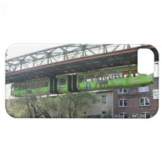 Green Wuppertal Floating Train Schwebebahn Zoo iPhone 5 Cover