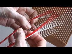 Weaving patterned bands with a double holed heddle.