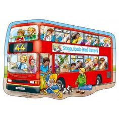 Big Bus Floor Puzzle - Orchard Toys Floor Puzzles - Puzzles & Games - Catalogue