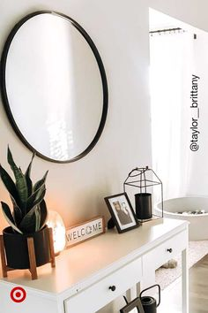 Find modern mirrors & ideas that reflect your design aesthetic to spruce up the entryway, living or bathroom decor. Room Ideas Bedroom, Home Decor Bedroom, Bedroom Wall Ideas For Teens, Home Decor Mirrors, Bedroom Rustic, Diy Bedroom, Bathroom Ideas, My Living Room, Living Room Decor