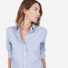 The Relaxed Poplin Shirt - Everlane