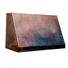 custom copper range hood Texas Lightsmith Model #3