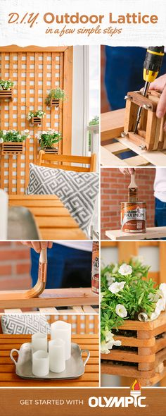 Plus up your outdoor space with the help of lattice. Not only does this lattic add privacy to your deck or patio, but it also adds personality. Choose a stain color that speaks to your style and the possibilities are practically endless.