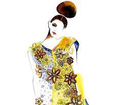 Piste Fashion Illustration - Louis Vitton