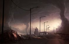 Post Apocalyptic Wallpaper and Background Image Sci Fi Wallpaper, Wallpaper Backgrounds, Examples Of Concepts, Post Apocalyptic Art, Cities, Apocalypse Art, Technology Photos, World Photo, Thing 1
