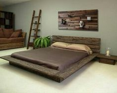 Low Platform Bed Frame Reasons to Buy These Low Platform Bed, Platform Bed Designs, Platform Bed Frame, Modern Rustic Bedrooms, Shabby Chic Bedrooms, Trendy Bedroom, Rustic Bedroom Furniture, Home Decor Bedroom, Bedroom Ideas