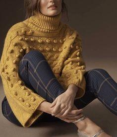 # knitting # style - Tricot et Crochet Knit Fashion, Sweater Fashion, Womens Fashion, Trendy Fashion, Style Fashion, Luxury Fashion, Fall Winter Outfits, Autumn Winter Fashion, Mode Outfits