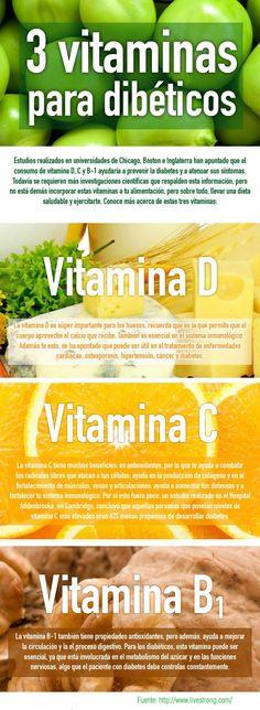 Vive con Diabetes - Tres vitaminas para diabéticos